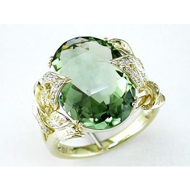 Green Amethyst Ring..Beautiful...grande jewelry