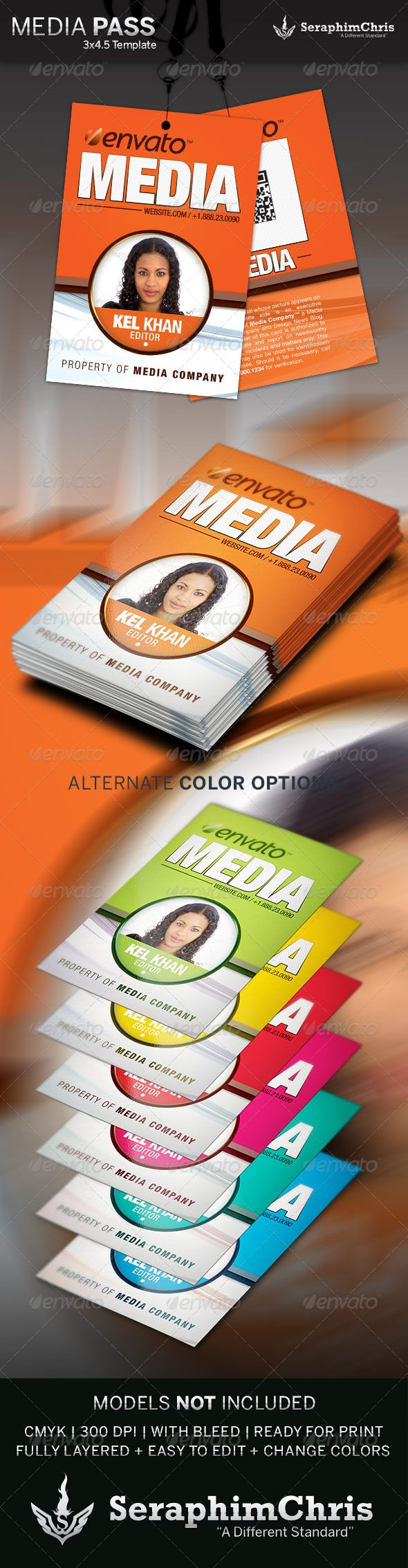 9 best press pass template images on pinterest font logo for Media press pass template