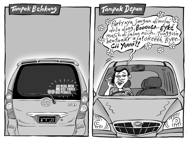 Mice Cartoon, Kompas, 07 Sep 2014: Real Men Use Three Pedals