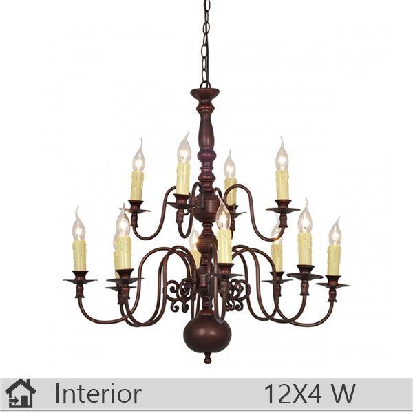 Candelabru iluminat decorativ interior Klausen, gama Royal, model nr12