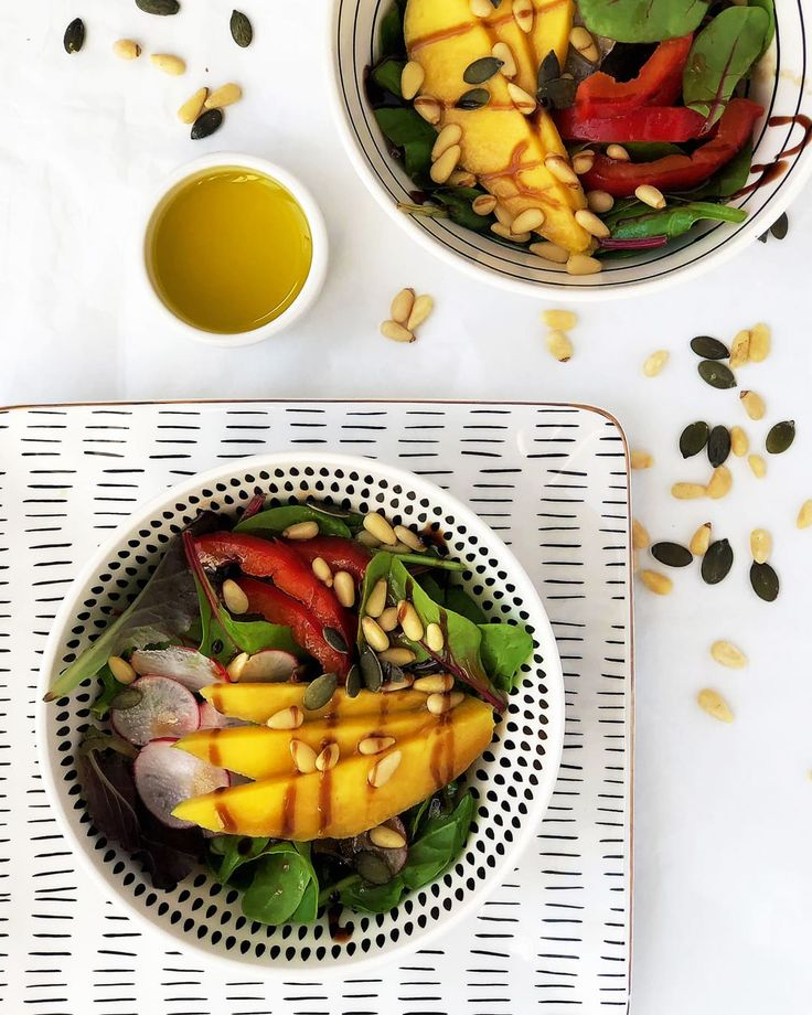 Green Mango and Pine Nuts Salad with Homemade Dressing