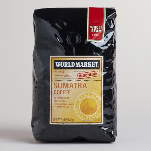 One of my favorite discoveries at WorldMarket.com: 24-oz. World Market� Sumatra Coffee. You earn points for free coffee every time you shop.