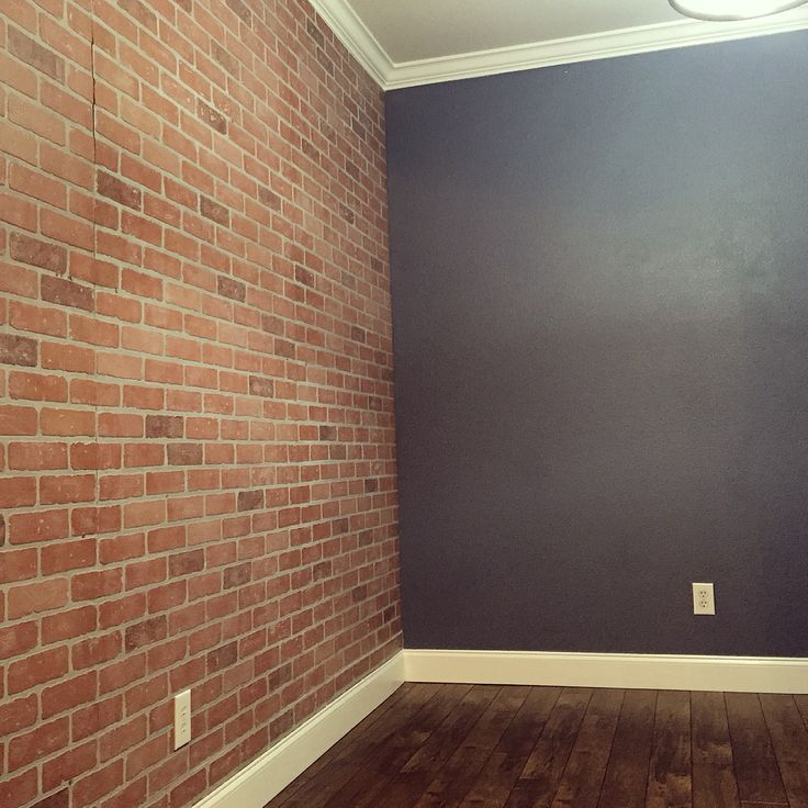 Faux brick wall panels from Home Depot                                                                                                                                                                                 Más