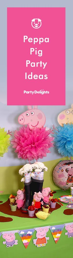 Looking for a good pre-school party theme? How about a Peppa Pig birthday party? Perfect for young children who love the TV show, read our Peppa Pig party ideas for decorating ideas, themed party food ideas, Peppa Pig party games and more!