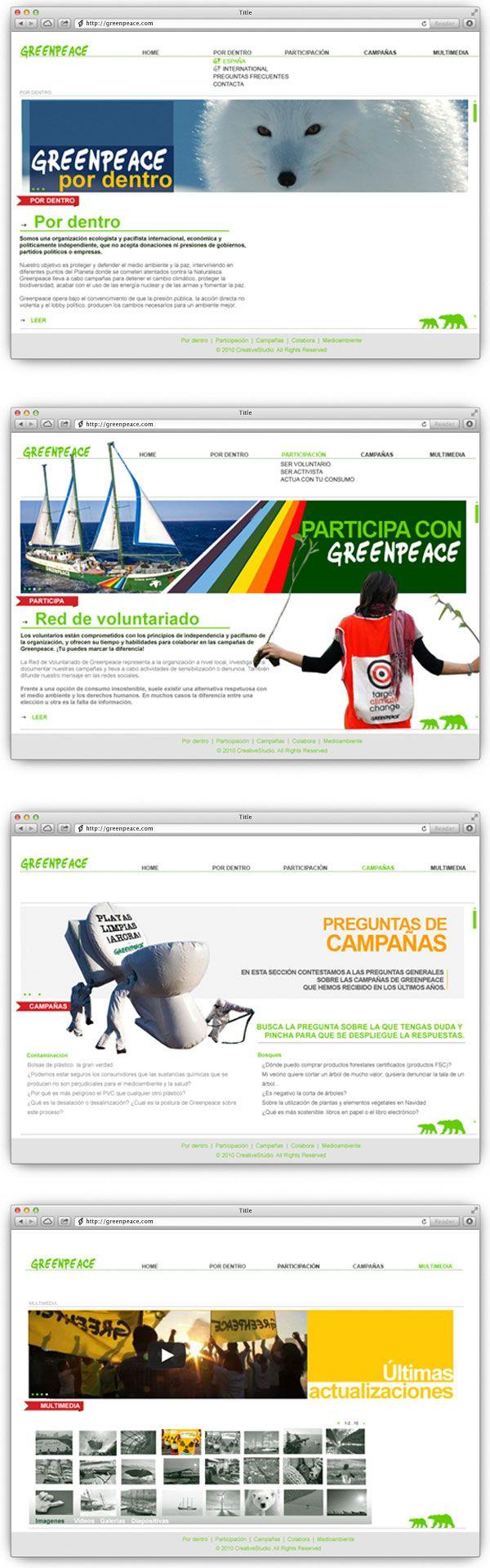 greenpeace web design #webdesign