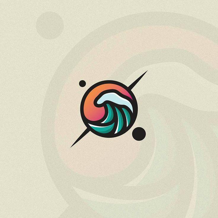 #logoawesome from @muhilar -  Planet wave.  #muhilar  #uniquelogo  #2in1logo  #logodesign  #simplelogo #brandidentity #brandinglogo #graphicgang #graphicdesigncentral #brandvisions #logoforsale #vector #vectorlogo #graphicdesign #graphicdesigner #illustrator #photoshop