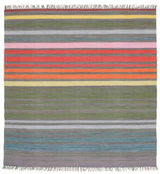 Rainbow Stripe - Harmaa-matto 200x200