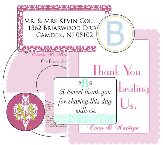 This site has a variety of ready-set labels if you need them for anything wedding related.