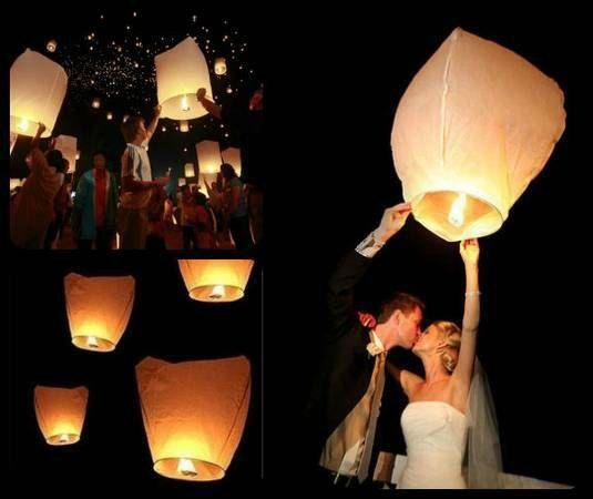Chinese Paper Sky Lanterns in Wedding White  by WeddingsofSanDiego