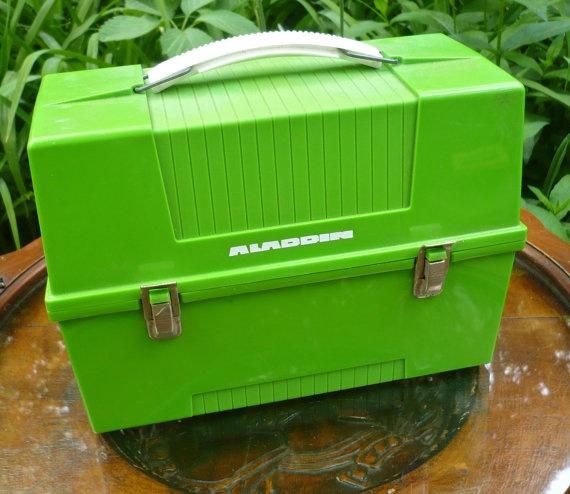 Aladdin Lunch Box Vintage Plastic Lunch Box by CasaKarmaDecor, $22.00
