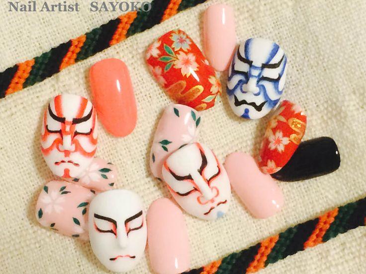 まるで歌舞伎のミニ舞台?!いろんなネイルの楽しみ方