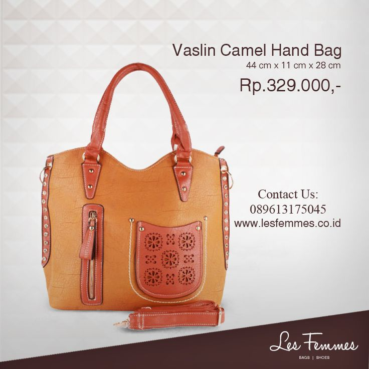 Vaslin Camel Hand Bag 329,000 IDR #Fashion #Woman #bag shop now on http://www.lesfemmes.co.id/hand-bags/vaslin-camel-hand-bag