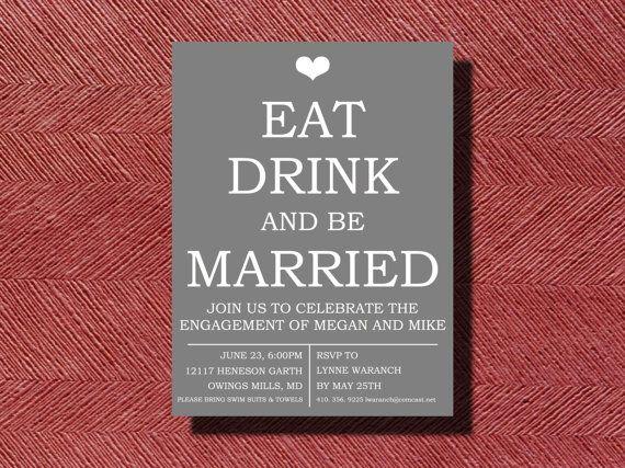 #DIY #Engagement Party #Invitation by WeddingsByJamie on Etsy, $15.00