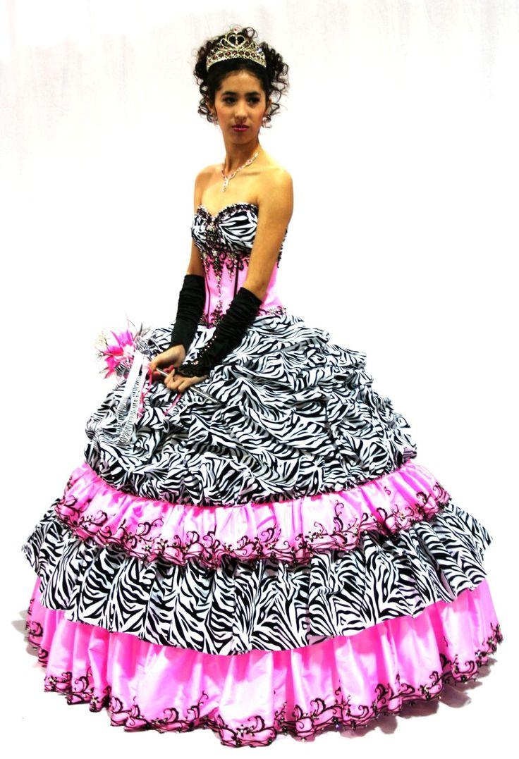 11 best zebra dresses images on Pinterest | Quince dresses, Prom ...