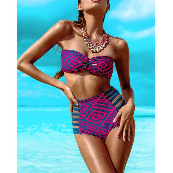 $18.00 (Buy here: https://alitems.com/g/1e8d114494ebda23ff8b16525dc3e8/?i=5&ulp=https%3A%2F%2Fwww.aliexpress.com%2Fitem%2FSexy-Striped-Strappy-Bikinis-Women-High-Waist-Swimsuit-2016-Newest-Bathing-Suit-Bather-Bandeau-Swimwear-maillot%2F32540414796.html ) Sexy Striped Strappy Bikinis Women High Waist Swimsuit 2016 Newest Bathing Suit Bather Bandeau Swimwear maillot de bain for just $18.00