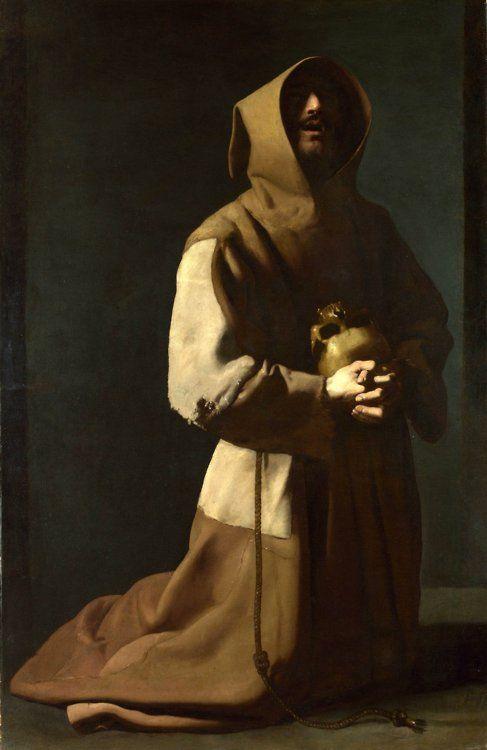 Saint Francis in Meditation, Francisco Zurbaran 1639