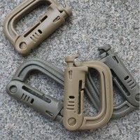 Wish | 2 Pcs Tactical Military Carabiner Clip Climbing Molle Bag D-Ring Buckle KeyRing