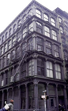 101 Spring Street - the last intact single-use-cast-iron building remaining in Soho.