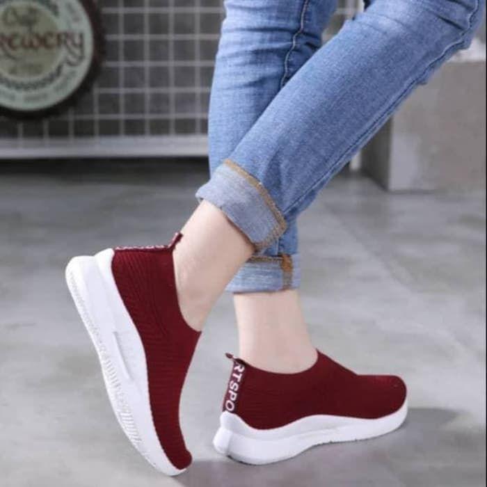 Sepatu Slip On Casual Wanita Branded Model Terbaru 2019 Lengkap