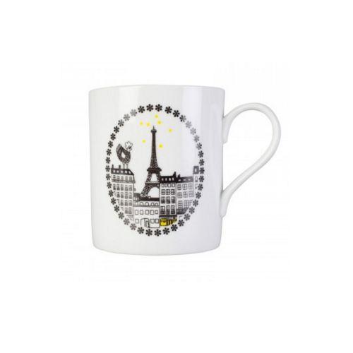 Un chouette #mug #Paris en #porcelaine #TourEiffel #Cocotte #coq