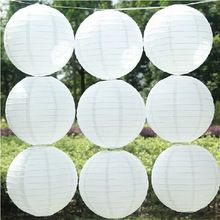 "10pcs/lot 8""( 20cm) ronde papieren lantaarn wit papieren lantaarns partij lantaarns bruiloft decoratie festival lampen(China (Mainland))"