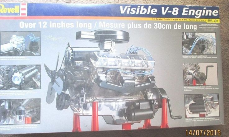 revell visible   engine  scale  moving pistons  crank model kit models engine