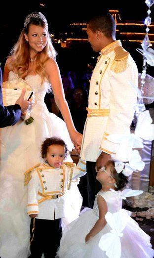 Mariah Carey y Nick Canon se casan por tercera vez como auténticos príncipes de cuento con la presencia de sus hijos mellizos