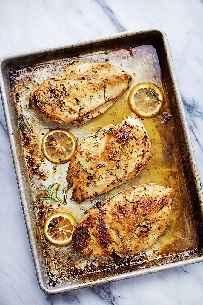 Easy baked lemon chicken. A quick recipe loaded with flavor.