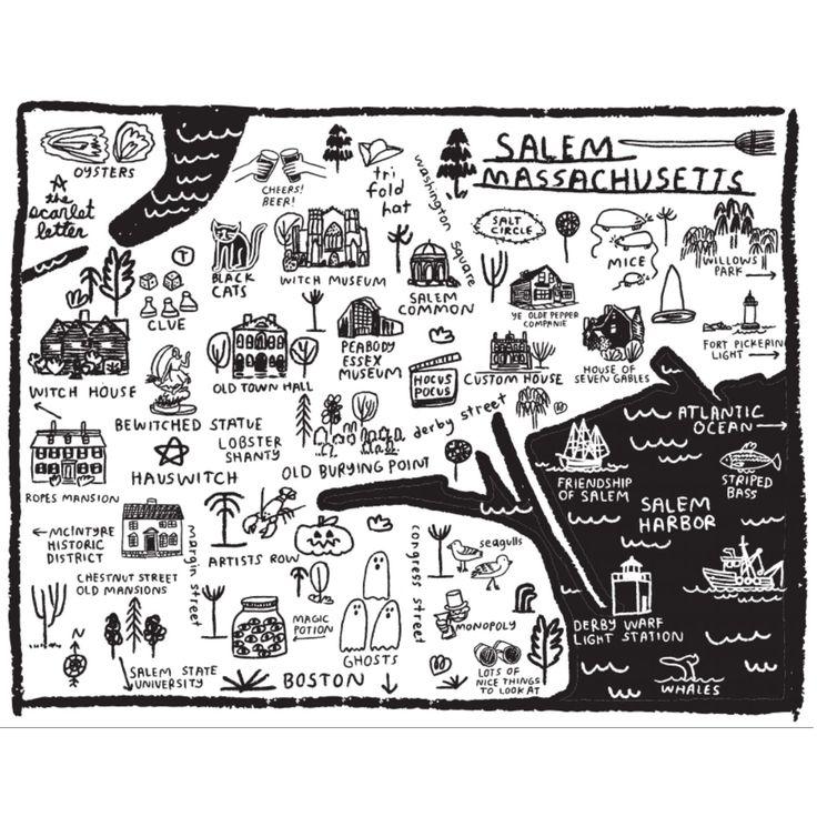 Salem Map Print