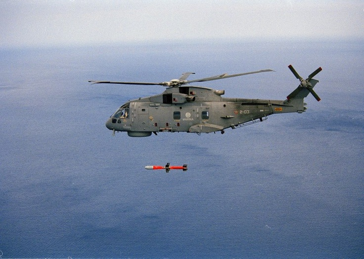 AW 101 Army firing MARTE MK2 anti ship missile....