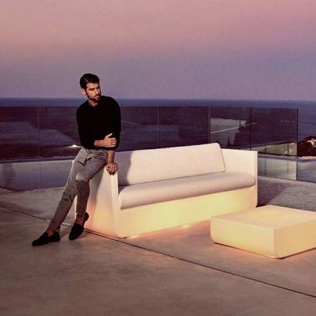 ULM Sofa Luz - Canapé extérieur Lumineux Blanc - Vondom
