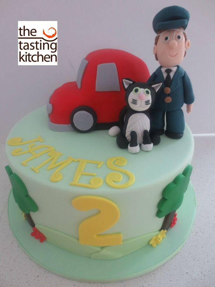 Postman Pat Cake Topper Tutorial
