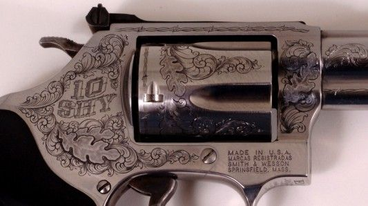 Smith & Wesson .357.  By Otto Carter- a Master Engraver.