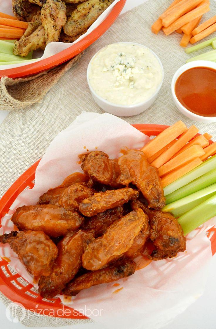 Alitas picantes o buffalo wings (sin aceite y fáciles de preparar) www.pizcadesabor.com