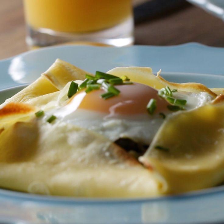 Panqueques salados c huevo