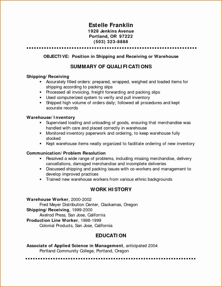sample resume for group home worker