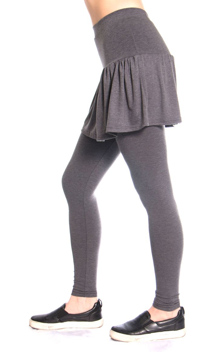 Have you ever been to the gym and worried that everyone can see your knickers? Well worry no more, because our new workout leggings come with skirts attached- to keep you covered and feeling confident