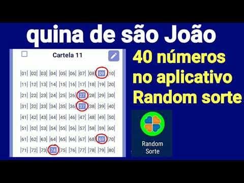 Quina De Sao Joao Dica Com 40 Numeros No Aplicativo Random Sorte 140 Milhoes Youtube Aplicativos Numeros Youtube