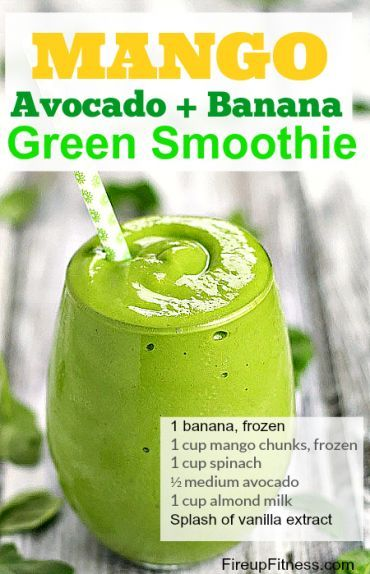 Mango BananMango Avocado Green Smoothie for Weight Loss