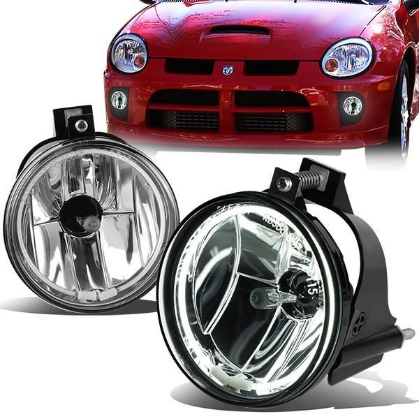 03 05 Dodge Neon Fog Lights Halo Ring Clear Lens Pair Fog Dodge Halo