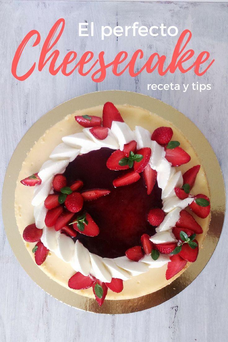 La receta perfecta de Cheesecake Clasico con una decoración moderna con frutillas