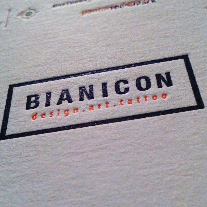 Bianicon letterpress business card #szililetterpress #bianicon #letterpress #businesscard