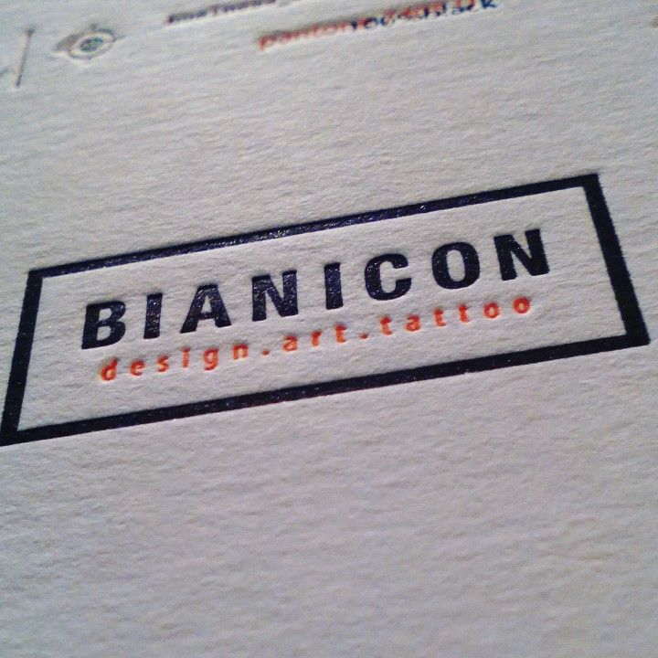 Bianicon letterpress business card #szililetterpress #bianicon #letterpress #businesscard