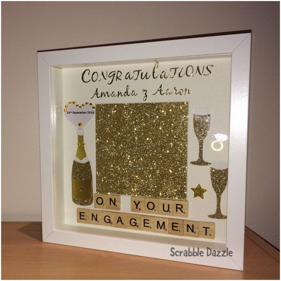 Personalised Engagement Gift Engagement frame by ScrabbleDazzle