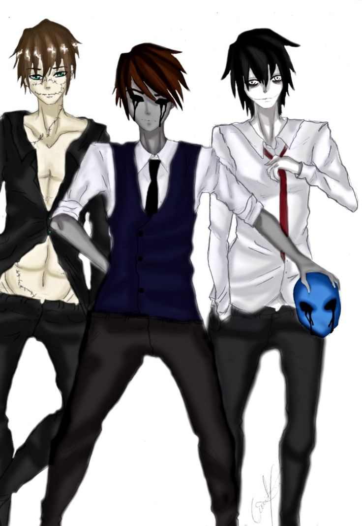 Creepypasta boys in suits by KonstantinaFlosh on DeviantArt