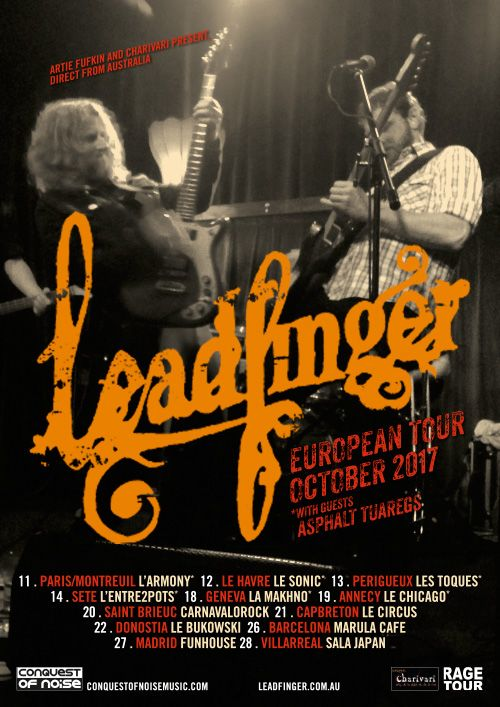 CON artists Leadfinger are hitting Europe next month. Bring your earplugs.