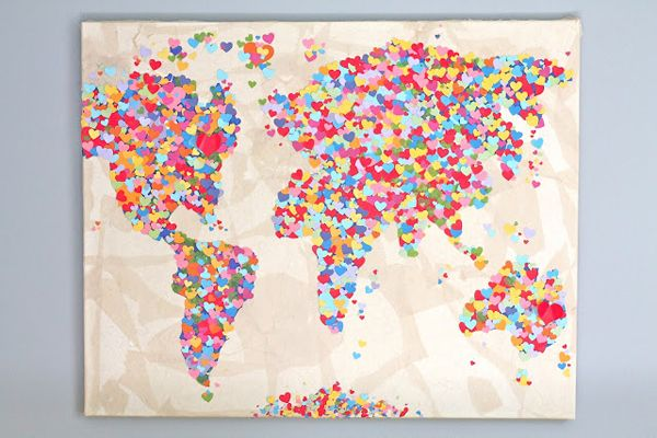 For those who love the world - a heart map