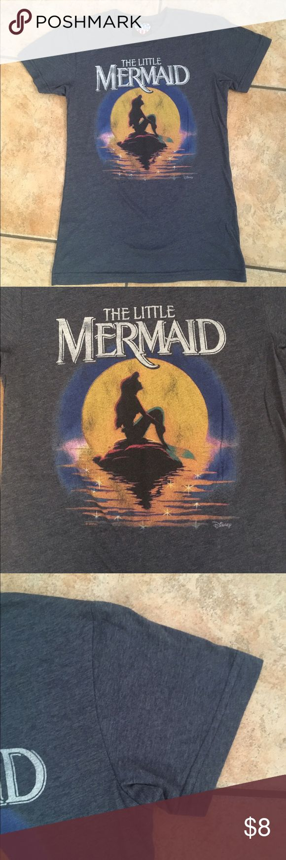 Junk Food 'The Little Mermaid' T-Shirt (Large) Junk Food 'The Little Mermaid' Blue Skinny Fit T-Shirt (Size Large). *Excellent Condition!! Junk Food Tops Tees - Short Sleeve