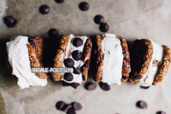 Безглютеновый десерт: мороженое с печеньем (веганский рецепт)