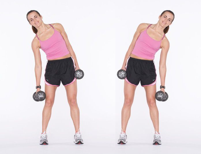 side bends to get rid of love handles muffin tops